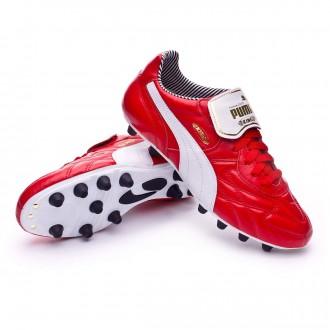 Boot  Puma King Top Stripe FG High risk red