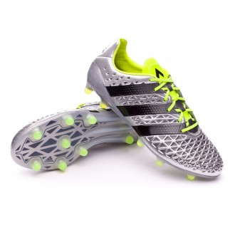 Chaussure  adidas Ace 16.1 FG Silver metallic-Black-Solar yellow