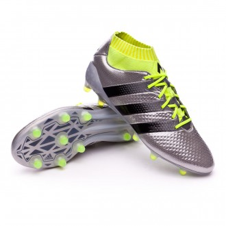 Chaussure  adidas Ace 16.1 Primeknit FG Silver metallic-Black-Solar yellow