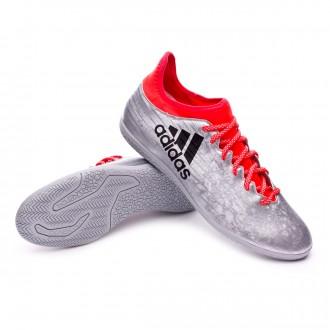 Zapatilla de fútbol sala  adidas X 16.3 IN Silver metallic-Black-Solar red