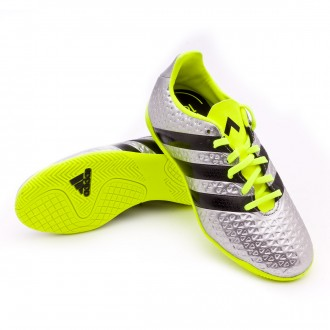 Zapatilla de fútbol sala  adidas jr Ace 16.4 IN Silver metallic-Black-Solar yellow