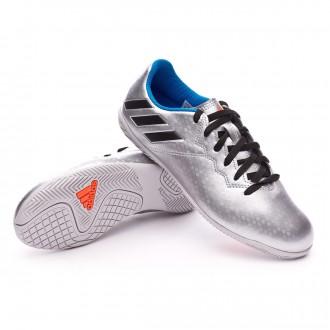 Zapatilla de fútbol sala  adidas jr Messi 16.4 IN Silver metallic-Black-Shock blue
