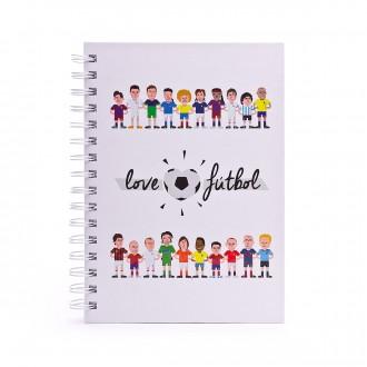 Notebook  LoveFútbol LF Blanco