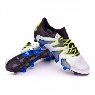 Boot  adidas X 15+ SL FG/AG Black-White-Solar slime