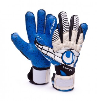 Luvas  Uhlsport Eliminator Supergrip White-Black-Energy blue