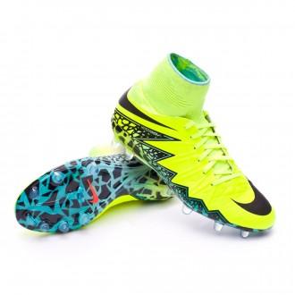 Boot  Nike jr HyperVenom Phantom II ACC FG Volt-Black-Hyper turquoise-Clear jade