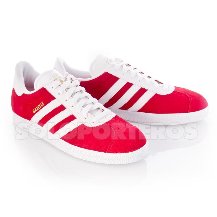 zapatillas adidas gazelle rojas