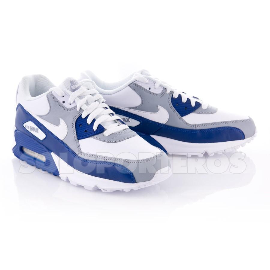 air max blancas y azules