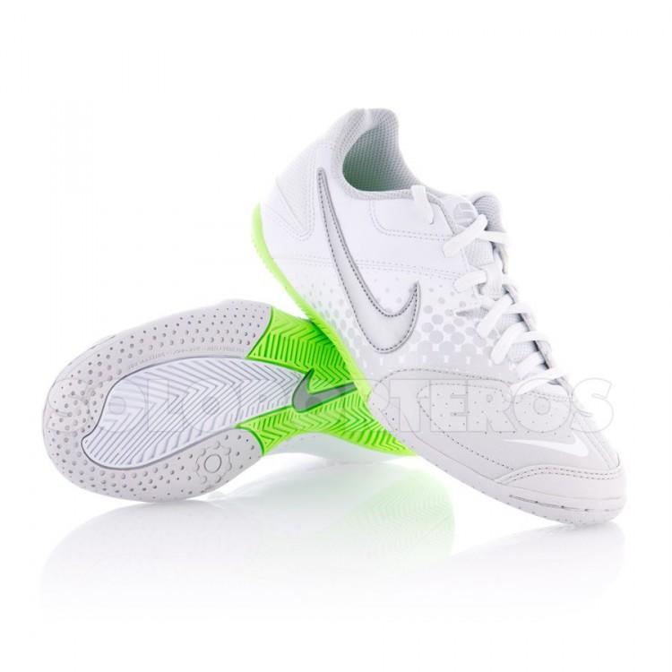Zapatilla Jr Nike 5 Elastico Blanca-Gris-Verde - NI415129.100