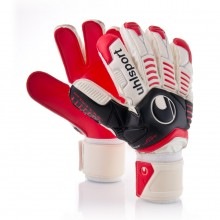 Guante  Uhlsport Ergonomic Supersoft Blanco-Rojo