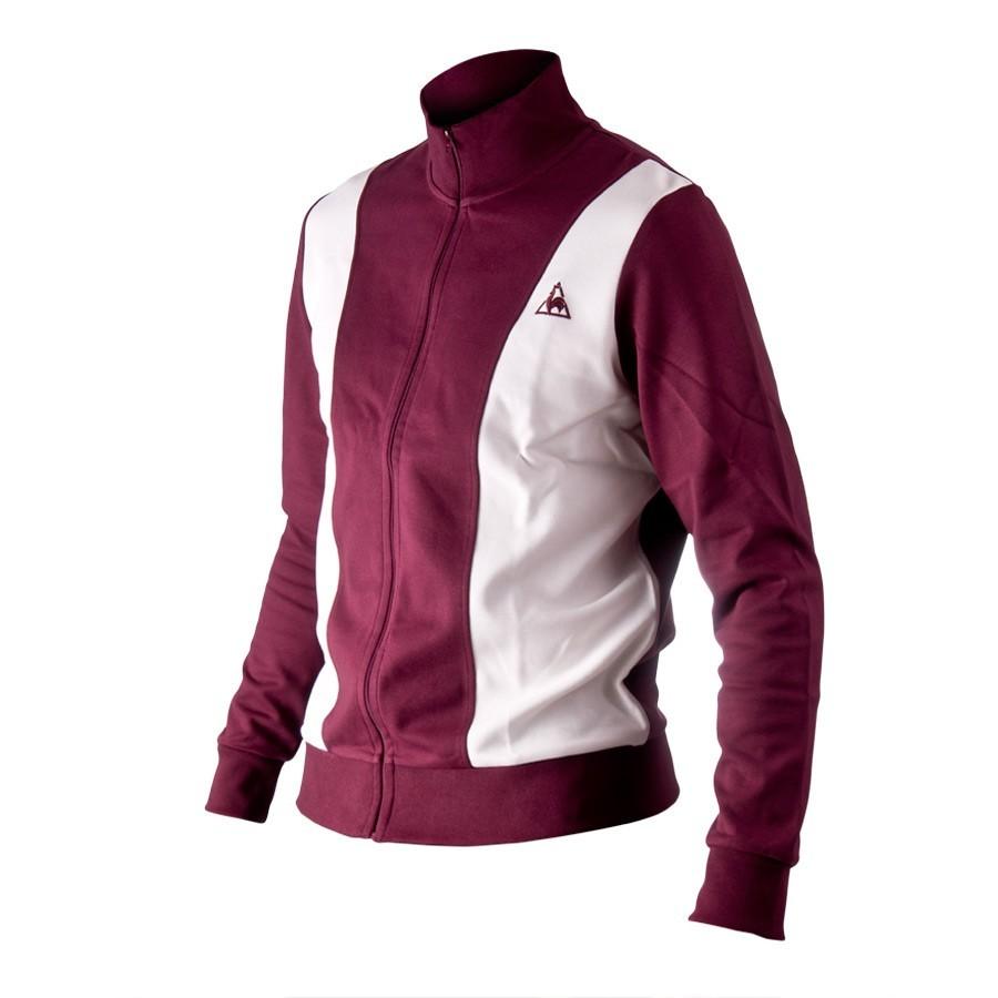 jacket le coq sportif veste zipee white burdeos soloporteros. Black Bedroom Furniture Sets. Home Design Ideas