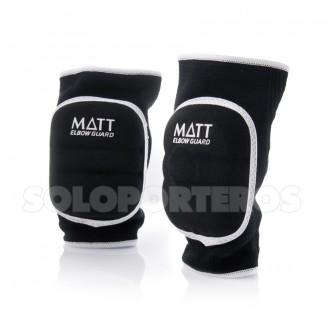 Elbow pads  Matt Matt Rubber Black