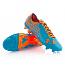 Bota  Under Armour 10K Force Pro II FG Azul-Naranja
