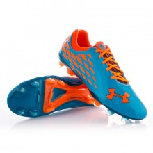 Bota  Under Armour 10K Force II FG Azul-Naranja
