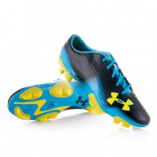 Bota  Under Armour Blur II FG Negra-Amarilla