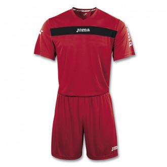 Conjunto  Joma Academy M/C Rojo-Negro