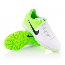 Bota  Nike Jr Total 90 Shoot IV Turf Blanca-Verde