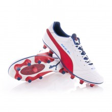 Bota  Puma King Superlight FG Blanca-Roja-Azul