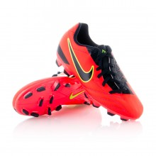 Bota  Nike Jr Total 90 Shoot IV FG Naranja-Negra