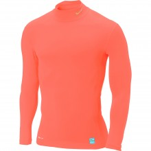 Camiseta  Nike M/L Core Compression Mock Rosa Fluor