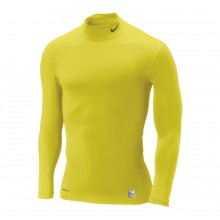 Camiseta  Nike M/L Core Compression Mock Amarilla