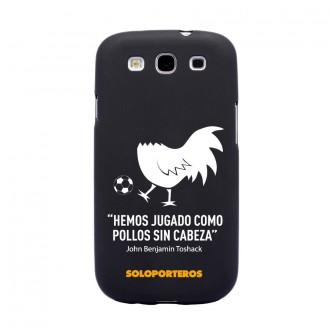 Carcasa  Soloporteros Samsung Galaxy S3 Pollo sin cabeza Negro mate
