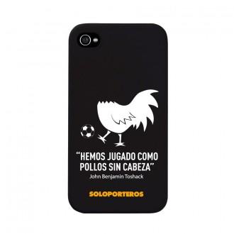Carcasa  Soloporteros iPhone 4 y 4S Pollos sin cabeza Negro mate