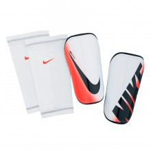 Protège tibia  Nike Mercurial Hald Shell Slip-In Blanc-Orange