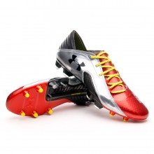 Bota  Under Armour Spine Blur CBN III FG Roja-Plata