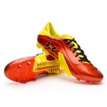 Chaussure  Under Armour Spine Blur III FG Rouge-Jaune