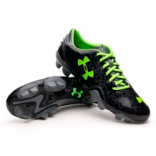Chaussure  Under Armour Blur Flash III FG Noir-Vert