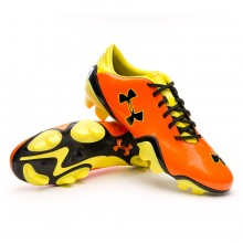 Bota  Under Armour Blur Flash III FG Naranja-Amarilla