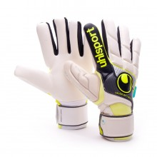 Glove  Uhlsport Fangmaschine HN Pro White-Black-Yellow