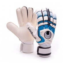 Guante  Uhlsport Cerberus Soft Supporframe Blanco-Azul