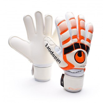 Guante  Uhlsport Cerberus Handbett Soft Blanco-Naranja