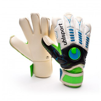 Guante  Uhlsport Ergonomic Bionik X-Change Absolutgrip Blanco-Verde-Azul