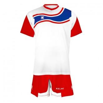 Conjunto  Kelme Suriname Blanco-Rojo