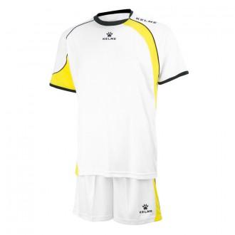 Goalkeeper set  Kelme Cartago White-Yellow