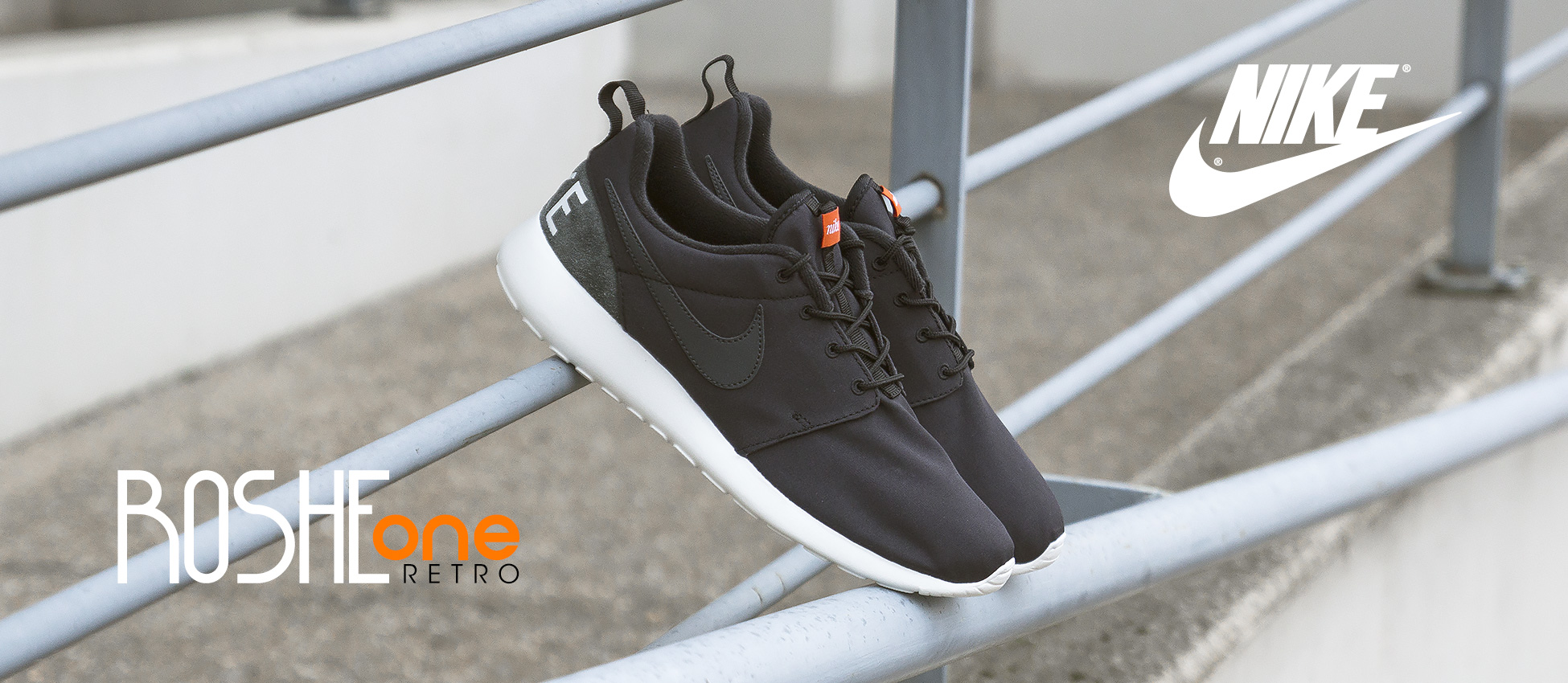Nike Roshe One Retro Black-Anthracita