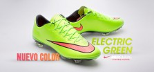 Bota Mercurial X Electric green ES